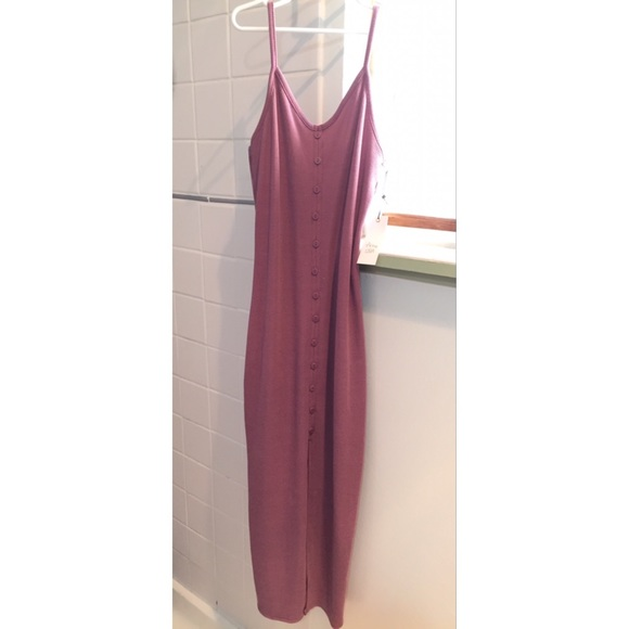Active USA Dresses & Skirts - (Sold)Ribbed Button Down Detail Dress